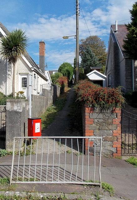 Public footpath from Penyrheol Road to Penybanc Lane, Gorseinon