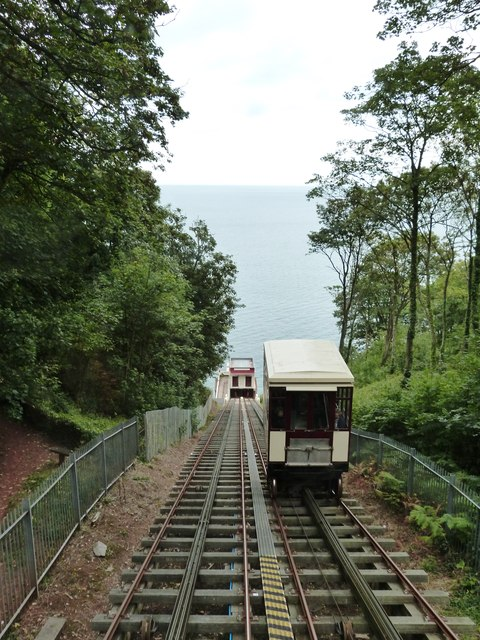 The cliff railway, Oddicombe beach, Babbacombe