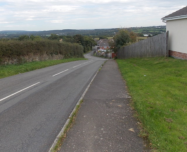 Pencefnarda Road east of Heol Elfed, Penyrheol Gorseinon