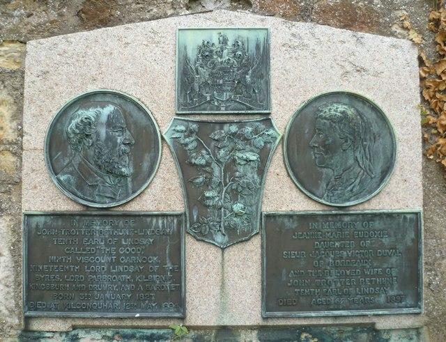Memorial in Kilconquhar Kirkyard