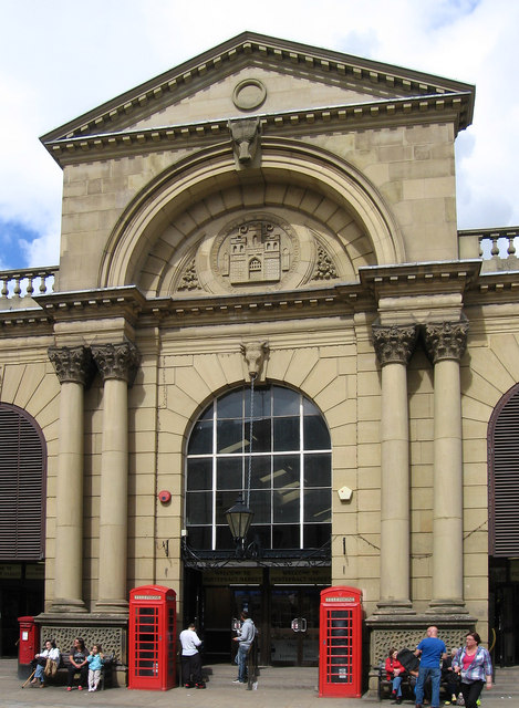 Pontefract - Market Hall facade