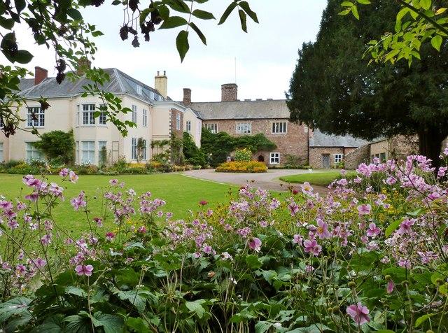 Gardens at Tiverton Castle, Devon