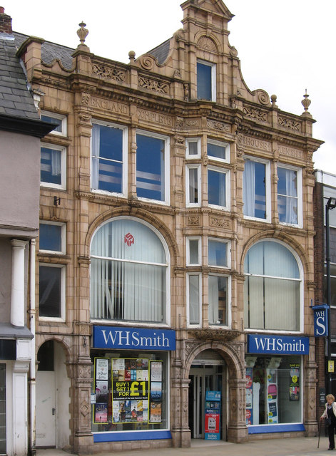 Pontefract - W H Smith shop on Market Place