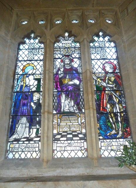 St Mary, Burton Bradstock: stained glass window