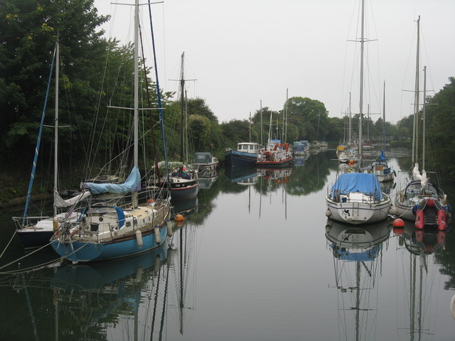 The upper harbour at Lydney
