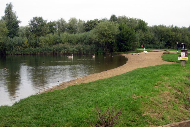 Duck feeding beach at Priory Park