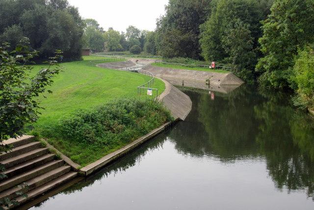Canoe slalom course in Priory Park
