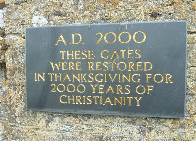 Saint Martin, Shipton Gorge: gate inscription