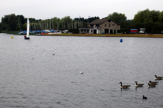 Lake and sailor in Priory Park