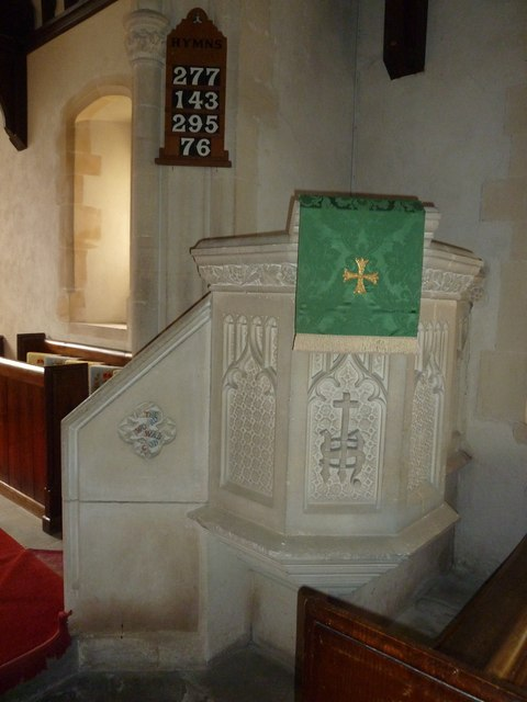 Saint Martin, Shipton Gorge: pulpit