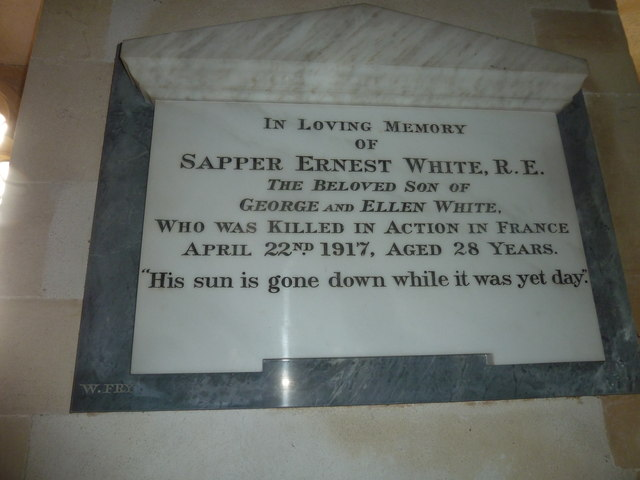 Saint Martin, Shipton Gorge: memorial (ii)