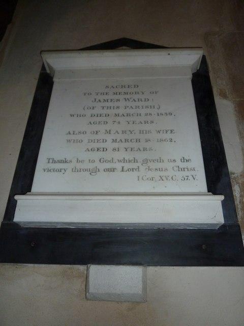 Saint Martin, Shipton Gorge: memorial (iii)