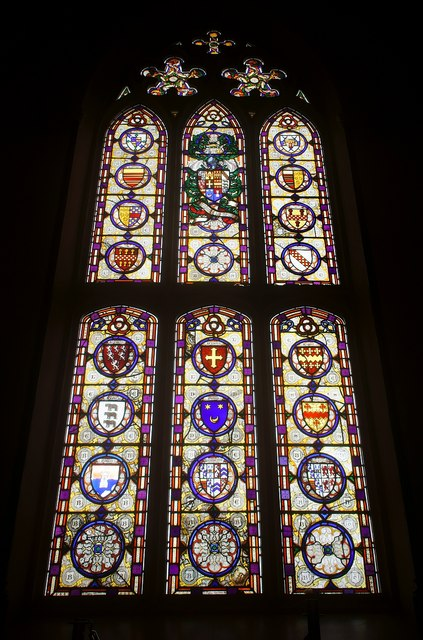 Stained Glass Window in Conishead Priory