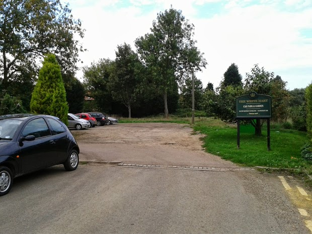 Parking area at the back of The White Hart, Shefford