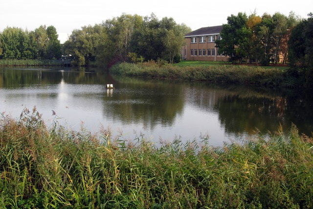 Lake in Priory Business Park