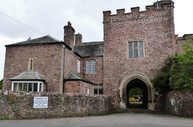 Entrance to Tiverton Castle, Devon