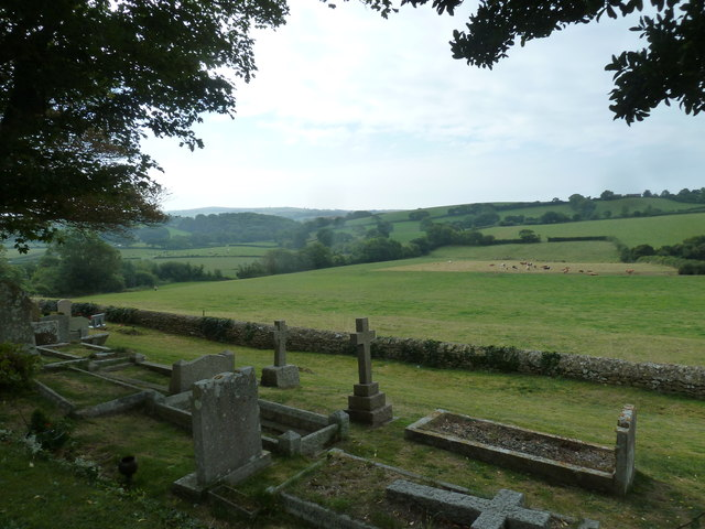 Saint Martin, Shipton Gorge: view from the churchyard (iii)