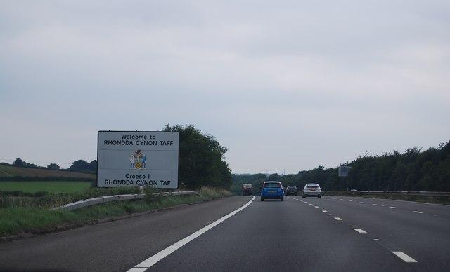 Welcome to Rhondda Cynon Taff, M4