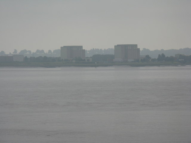 Berkeley Power Station from across the Severn Estuary