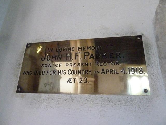 St. Giles Hooke: memorial (a)