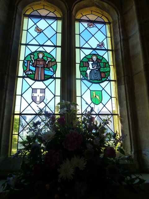 St. Giles, Hooke: stained glass window (A)