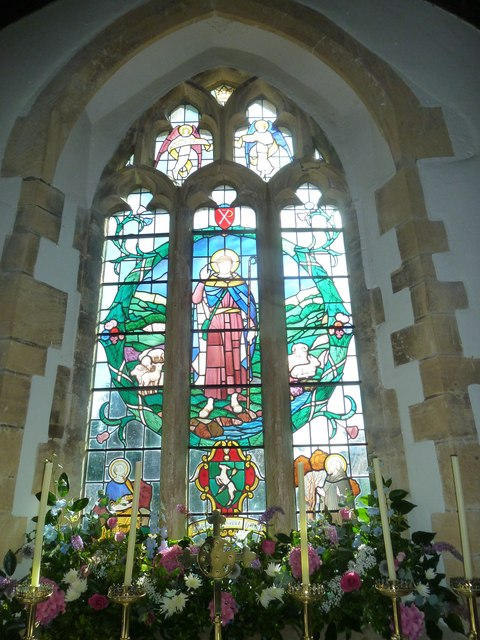 St. Giles, Hooke: stained glass window (B)