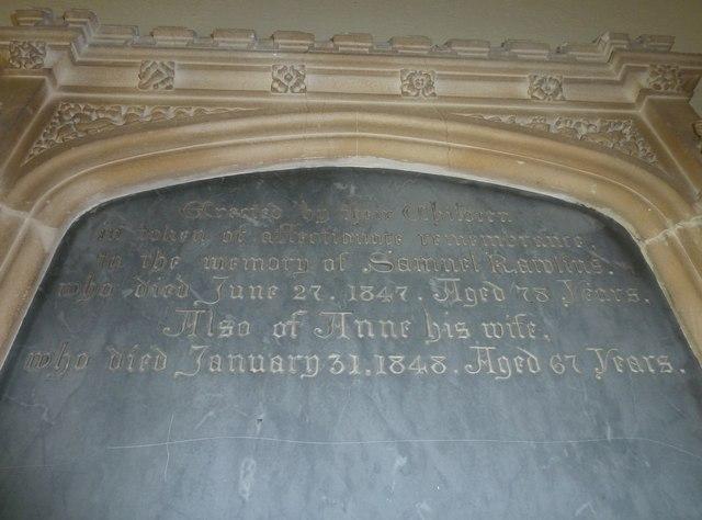 St. George, Hooke: memorial (b)