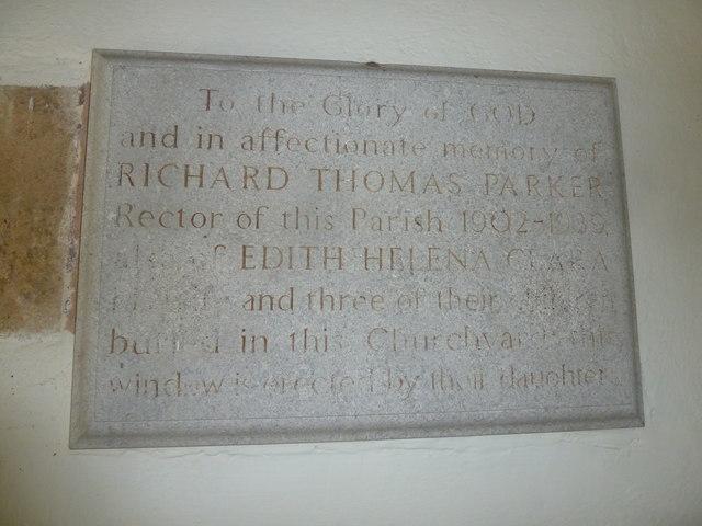St. George, Hooke: memorial (c)