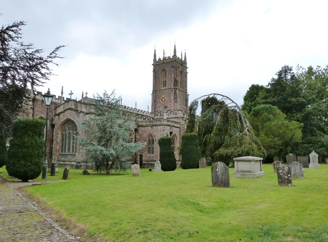 The North side of St Peter's Church, Tiverton, Devon