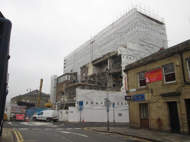 Demolition in progress on Lord Street
