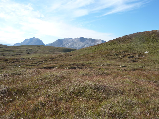 Moorland above the slopes of Fiarland