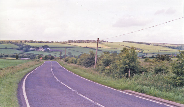 Northward on A713 near site of Holehouse Junction station, 1998
