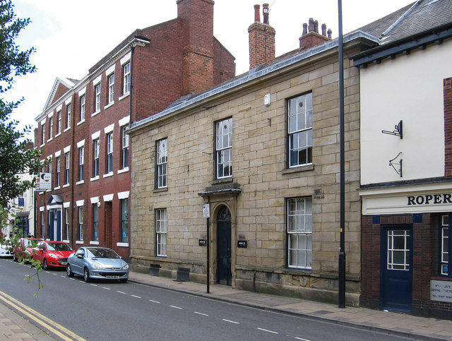 Pontefract - Georgian buildings on Ropergate