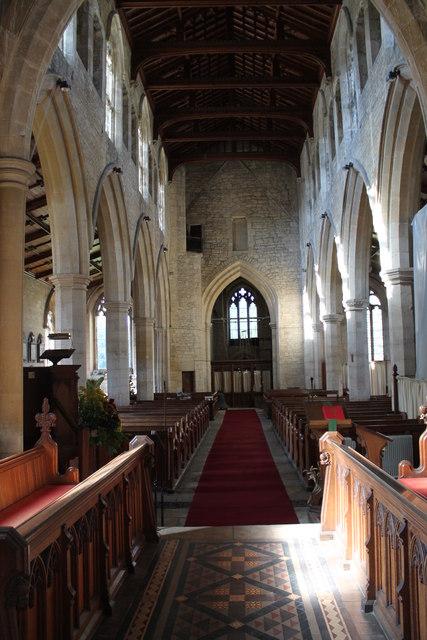 Interior, St Chad's church, Welbourn