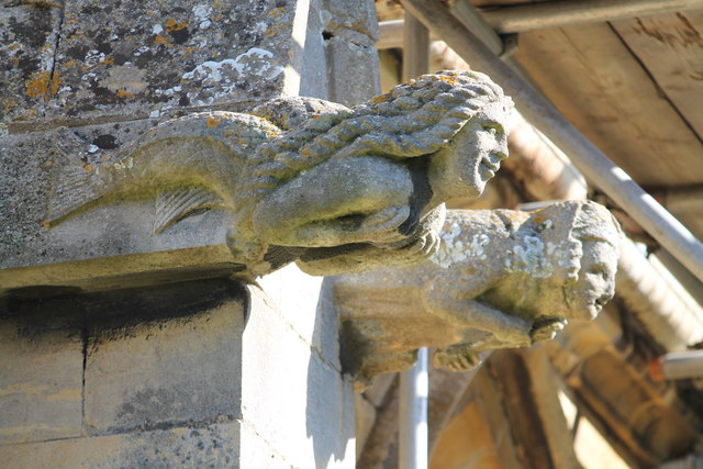 Mermaid Grotesque, St Chad's church, Welbourn