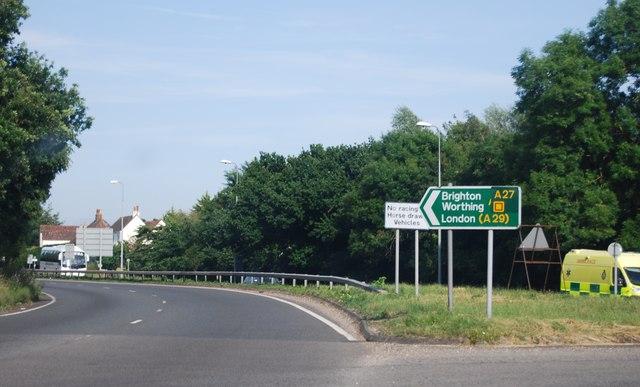 Exit, Boxgrove Roundabout