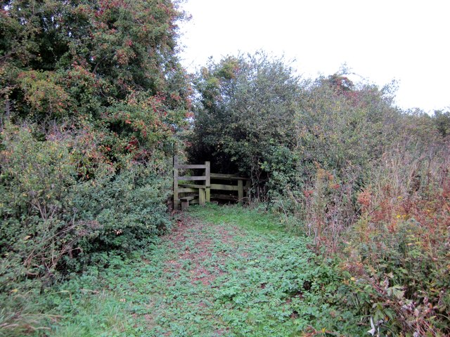 Footpath and Stile to Lower Lane