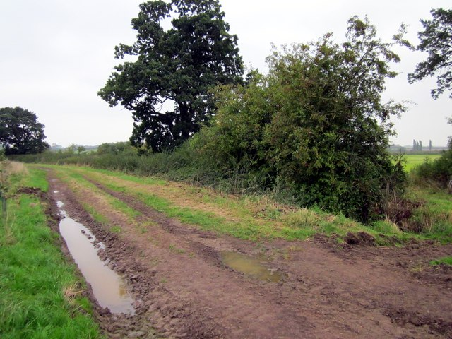 Footpath near Lea Hall