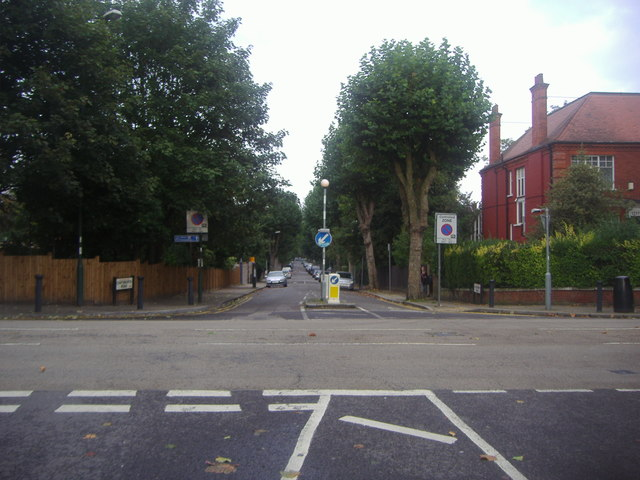 Mapesbury Road at the junction of Chatsworth Road