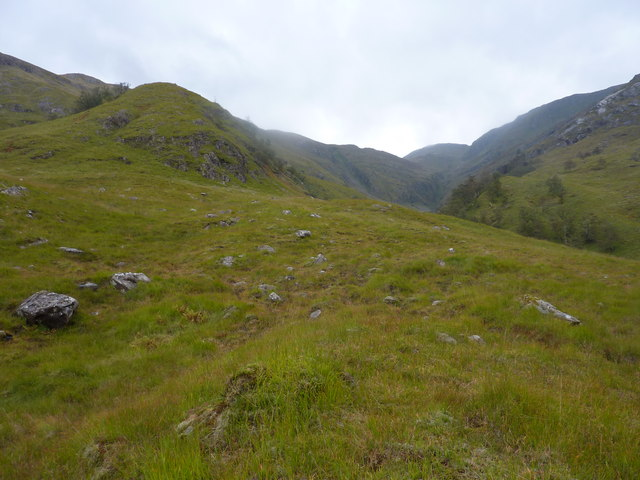 Am Fas-allt and the N.W. shoulder of Sgurr a',Chuilinn