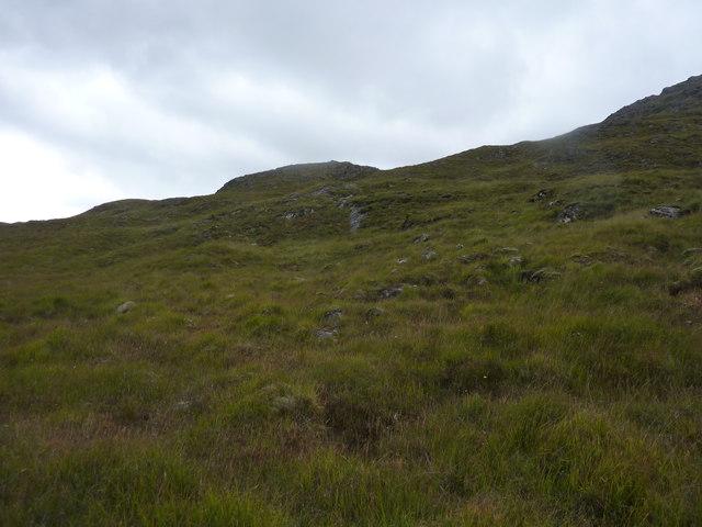 Moorland slope above Glen Shiel