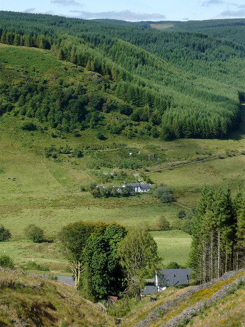 Across Cwm Tywi by Dolgoch, Ceredigion