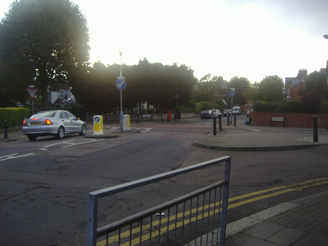 Chatsworth Road at the junction of Lydford Road