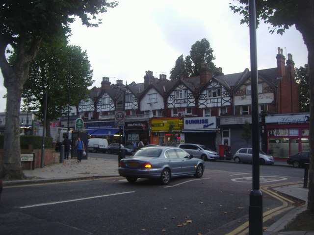 Shops on Walm Lane from Dartmouth Road