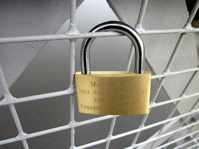 'Love-Lock' on Queen's Park Suspension Bridge