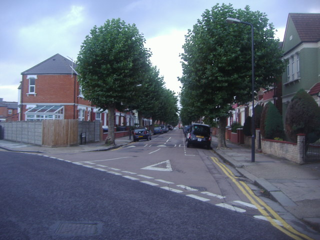Cedar Road from Olive Road, Cricklewood