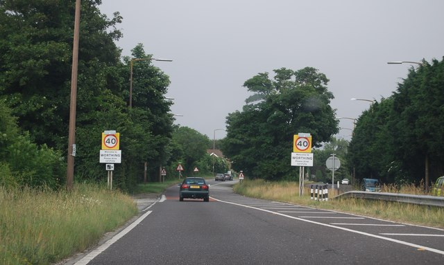 Entering Worthing, A27