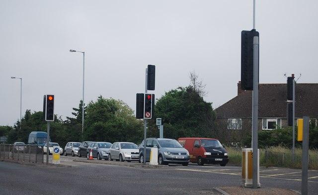 Traffic lights, A27