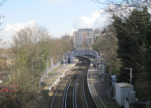 Maze Hill railway station, London