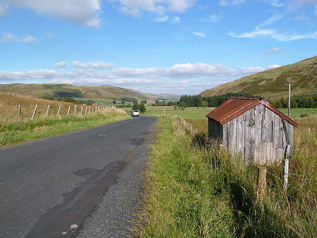 The B709 near Tushielaw in the Ettrick Valley
